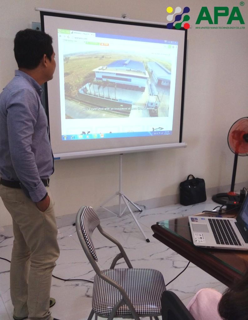 Photo: Mr Rattapum – APA Vice GM introduced about APA company. Source: APA